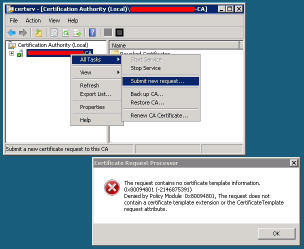 the request contains no certificate template information apache2 ssl certificates signed by the windows domain